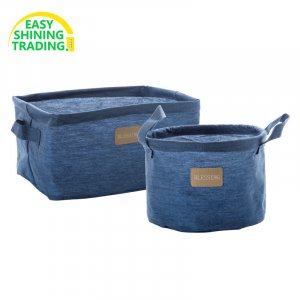 Denim storage basket
