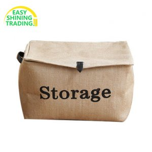 Jute storage bins