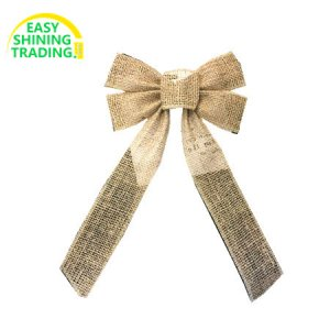 Christmas tree jute bows