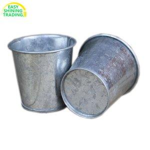 galvanized zinc flower pot