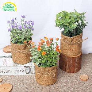 jute flower pot