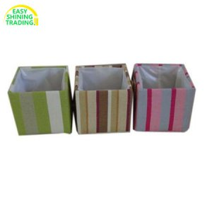 square fabric flower pot