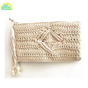 cotton rope crochet purse