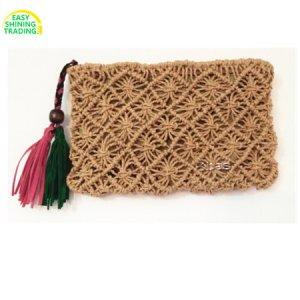 paper straw clutch bag
