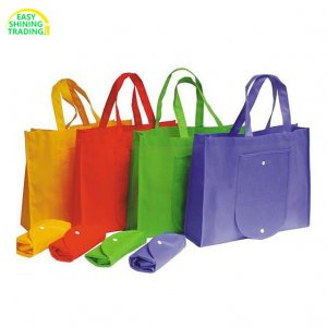 non woven fold up bag with pouch
