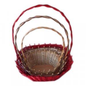 wicker baskets with handle ESSU049
