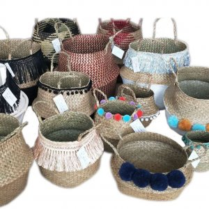 straw belly basket