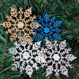 Plastic Christmas Snowflakes