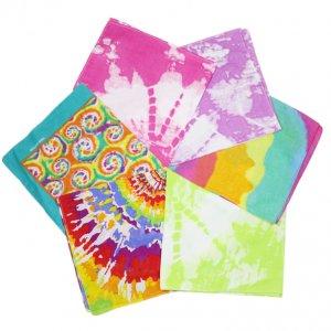 cotton tie-dyed bandana