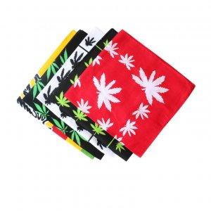 cotton bandana leaf pattern printing