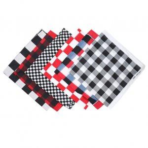 plaid cotton bandana