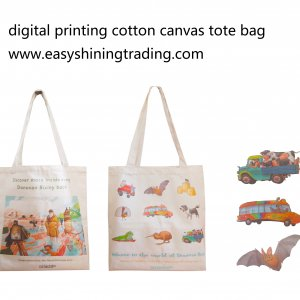 digital printing canvas cotton tote bag