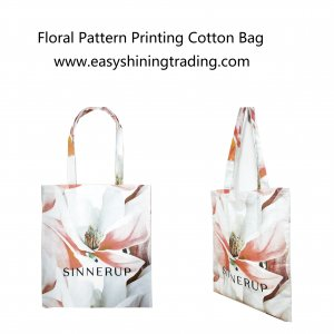 floral pattern printing cotton bag