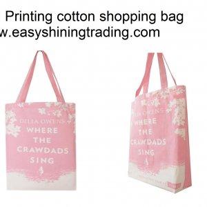 full printing Cotton shopping bag