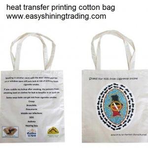 heat transfer printing cotton bag