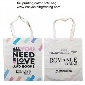 full printing cotton tote bag