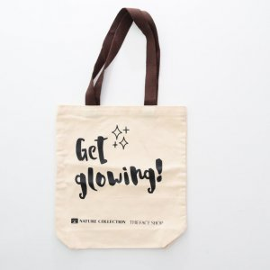 brown handle canvas bag