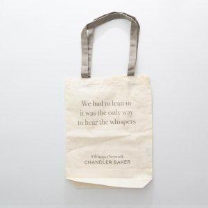 Grey handle canvas bag