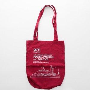 Dye red Cotton bag