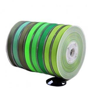 Green Ribbed Ribbon